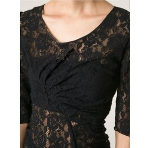 Nina Riccci Black Lace Top size 36 Small Gorgeous!